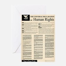 ISHR Human Rights Poster Greeting Card