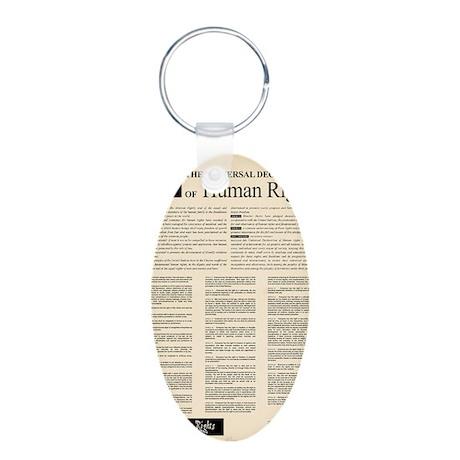 ISHR Human Rights Poster Aluminum Oval Keychain