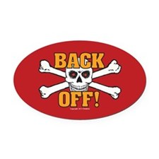 OTG 5 Back off 1 Oval Car Magnet
