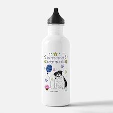 BulldogBlackWhite Water Bottle