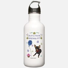 ChihuahuaBlackTan Water Bottle