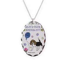 Beagle Necklace Oval Charm