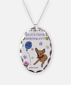ChihuahuaTan Necklace Oval Charm