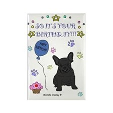 FrenchBulldogBlack Rectangle Magnet
