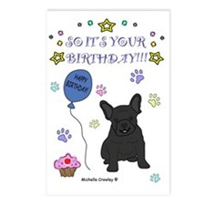 FrenchBulldogBlack Postcards (Package of 8)