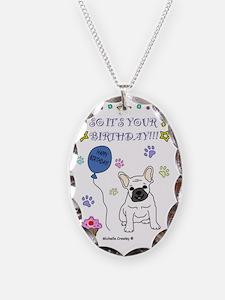 FrenchBulldogWhite Necklace