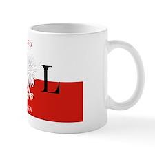 Poland Polska License Plate Small Mug