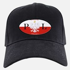 Poland Polska License Plate Baseball Hat