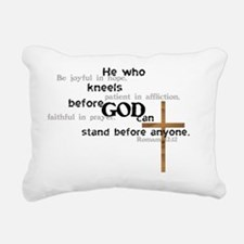 kneel Rectangular Canvas Pillow