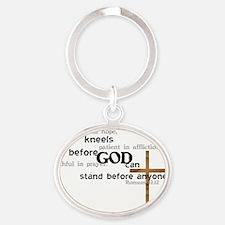 kneel Oval Keychain