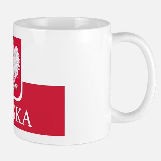 Polska Eagle Flag Coat of Arms White Ea Mug