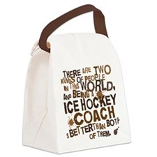 icehockeycoachbrown Canvas Lunch Bag