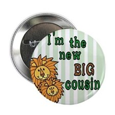 lion cousins Button