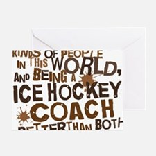 icehockeycoachbrown Greeting Card