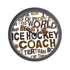 icehockeycoachbrown Wall Clock