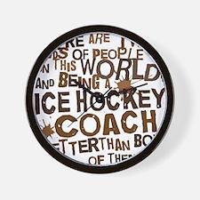 icehockeycoachbrown Wall Clock