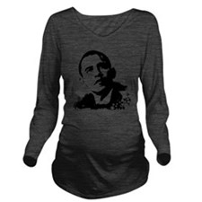black-obama Long Sleeve Maternity T-Shirt