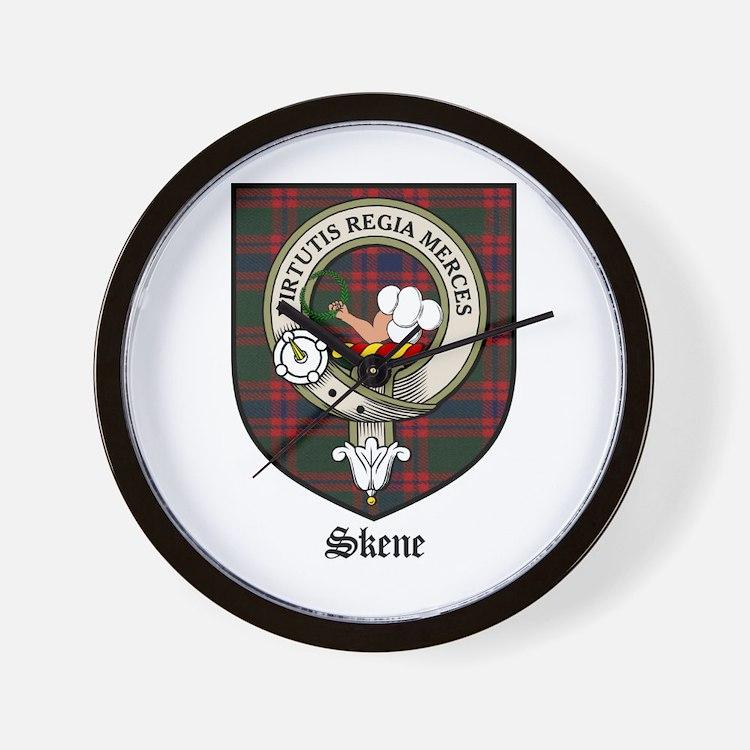 Skene Clan Crest Tartan Wall Clock