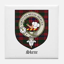 Skene Clan Crest Tartan Tile Coaster