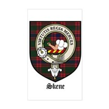 Skene Clan Crest Tartan Rectangle Decal