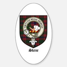 Skene Clan Crest Tartan Oval Decal