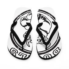 Bulls Sports Team Mascot Flip Flops