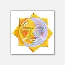 "iredscentSUNmoon Square Sticker 3"" x 3"""