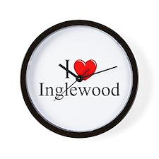 """""""I Love Inglewood"""" Wall Clock"""