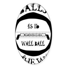 Balls2theWall White Decal