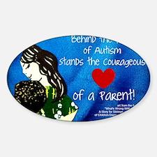 Autism awareness parents Sticker (Oval)