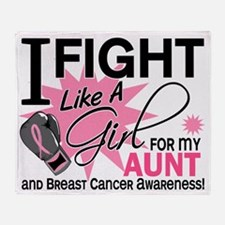 - Fight Like a Girl For Aunt BC Throw Blanket