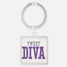 Tweet DIVA Square Keychain