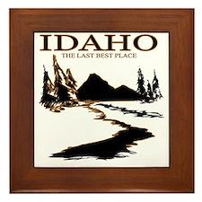 Idaho the Last best place Framed Tile