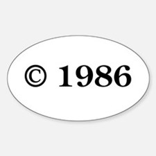 Copyright 1986 Oval Decal