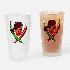 Chili Pirate-blk Drinking Glass