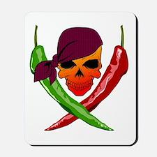 Chili Pirate-blk Mousepad