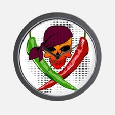 Chili Pirate Wall Clock