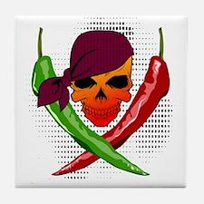 Chili Pirate Tile Coaster