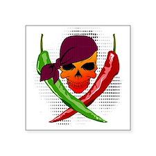 """Chili Pirate Square Sticker 3"""" x 3"""""""
