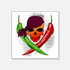 "Chili Pirate Square Sticker 3"" x 3"""