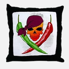 Chili Pirate Throw Pillow