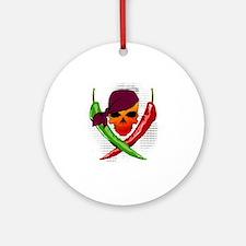 Chili Pirate Round Ornament
