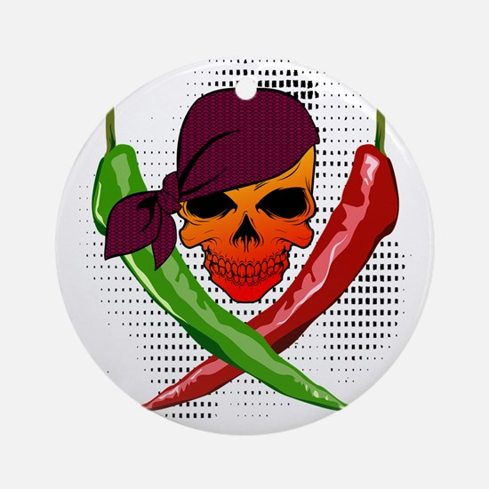 Chili Pirate Round Ornament