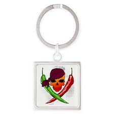 Chili Pirate Square Keychain