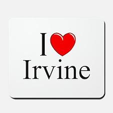 """I Love Irvine"" Mousepad"