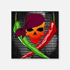 """Chili Pirate-mp Square Sticker 3"""" x 3"""""""