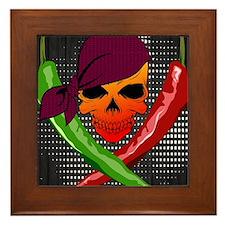 Chili Pirate-poster Framed Tile
