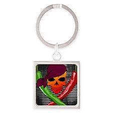 Chili Pirate-poster Square Keychain