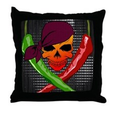 Chili Pirate-poster Throw Pillow
