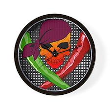 Chili Pirate-poster Wall Clock